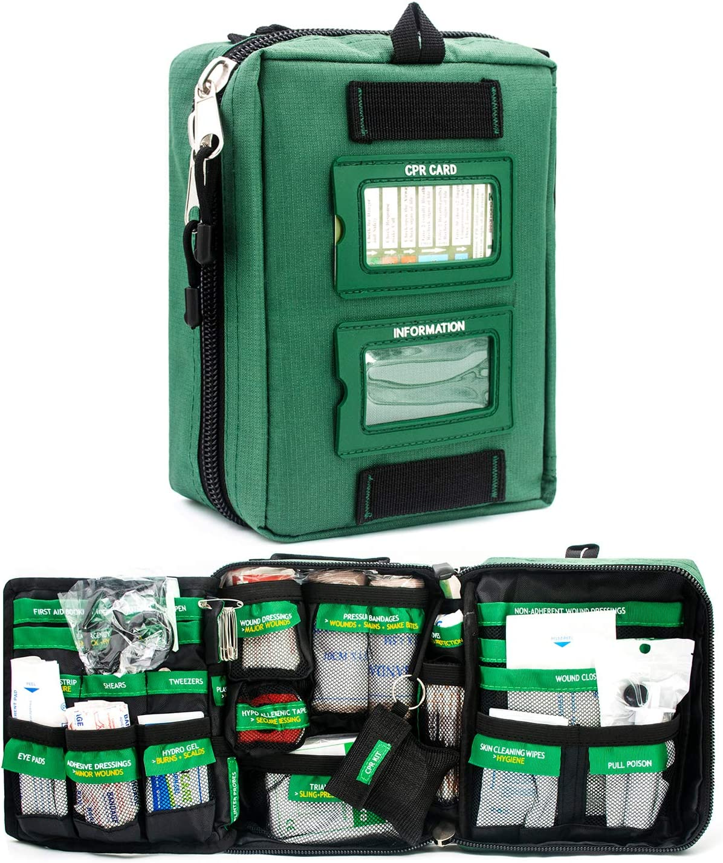 BearHoHo Handy First Aid Kit Fort Worth Max 66% OFF Mall Bag Lay Compact Premium 165-Piece 3