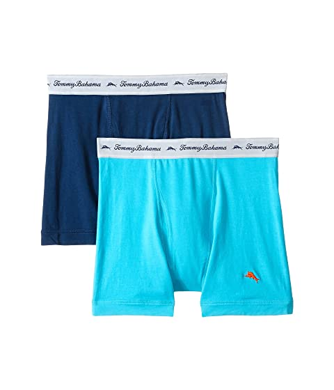 Free Shipping Extremely Tommy Bahama Solid Stretch Cotton Comfort Boxer Briefs 2-Pack Aqua/Neptune Purchase Online SlS1BN