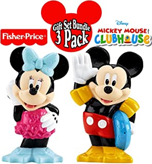 Fisher-Price Disney Mickey Mouse Clubhouse Bath Squirters Mickey & Minnie Gift Set Bundle - 2 Pack