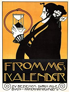Wee Blue Coo Advert Frommes Calendar Art Nouveau Moser Austria Hungary Canvas Print
