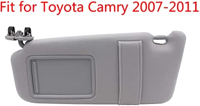 Left Driver Side Sun Visor Fit for 2007 2008 2009 2010 2011 Toyota Camry &Toyota Camry Hybrid 2007-2011Without Sunroof and Light-Gray