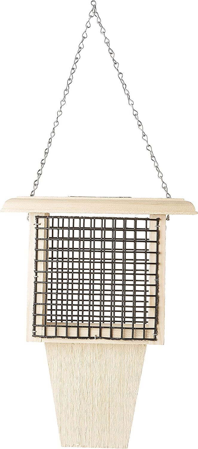 Coveside overseas Cheap mail order sales Wooden Food Container Bird Feeder Woodpecker