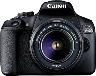 Canon EOS 1500D (18-55mm) DSLR Camera (AUST STK), Black