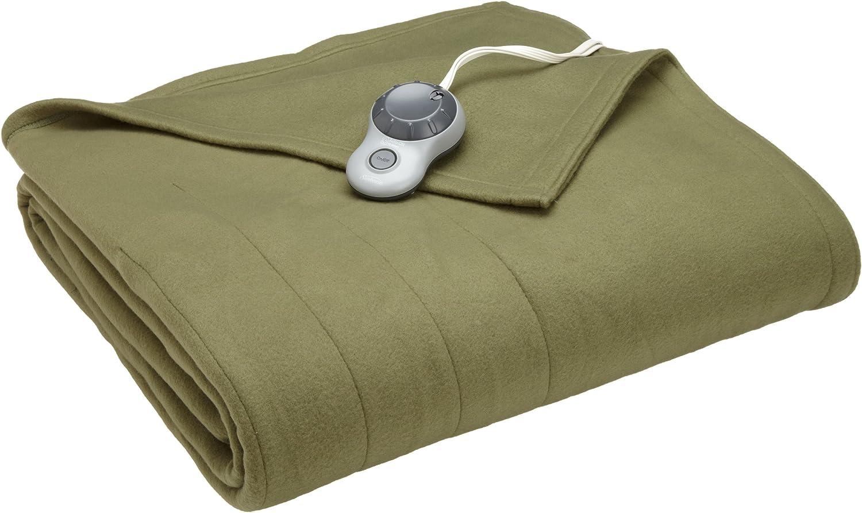 Sunbeam Heated Blanket   10 Heat Settings, Quilted Fleece, Ivy, Full