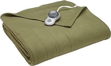 Sunbeam Heated Blanket | 10 Heat Settings, Quilted Fleece, Ivy, Full - BSF9GFS-R622-13A00