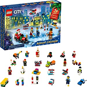 LEGO City Advent Calendar 60303 Building Kit; Includes City Play Mat; Best Christmas Toys for Kids; New 2021 (349 Pieces)