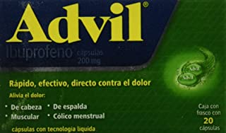 Advil FastGel, 200 mg, 20 Cápsulas