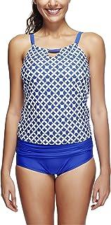ZEVONDA Women's Two Pieces Swimsuit Tankini Sets Sport Swimsuit Tankini Top Shorts Swimwear