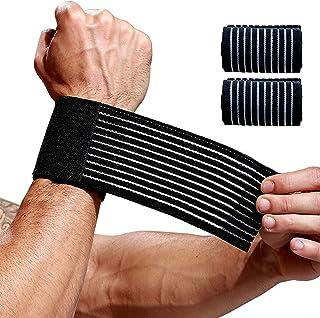 مچ بند 2 تونل مچ دست ، بسته بندی مچ دست برای تمرین ، نوارهای پشتیبانی کننده دست آرتروز ، مچ بند سبک برای مردان