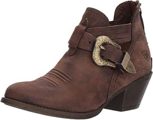 Ariat - Chaussures Dulce Western Western pour Femmes, 37.5 M EU, Naturally Distressed marron