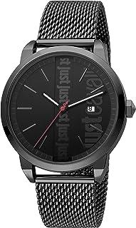 Just Cavalli Modern Men's Black Dial Stainless Steel Analog Watch - JC1G141M0085