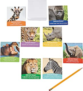 Fun Express Realistic Safari Animals Notepads | 24 Count | Great for Jungle Zoo Madagascar Themed Birthday Party, School Trips & Activities, Prizes & Favors