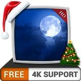 Christmas moonlights HD gratis: disfrute de las frescas vacaciones de Navidad en invierno en su televisor HDR 4K, TV 8K y dispositivos de fuego como fondo de pantalla, decoración para las vacaciones d