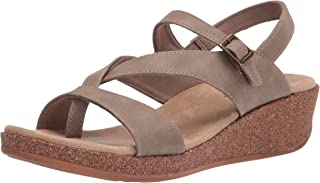 Easy Street Women's Wedge Sandal, Taupe, 8.5 Wide
