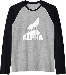 Wolf Howling Alpha Lone Wolf Pack Member Men Women Moon Raglan Baseball Tee