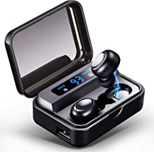Wireless Earbuds Bluetooth Headphones Mini Bluetooth Earbuds Super Bass Wireless Headset with LED Power Display Charging Case, Built-in Microphone, Sport in-Ear Ear Buds with Charging Case
