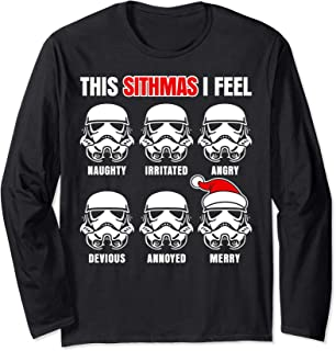 Star Wars Stormtrooper Emotions Christmas Long Sleeve Tee