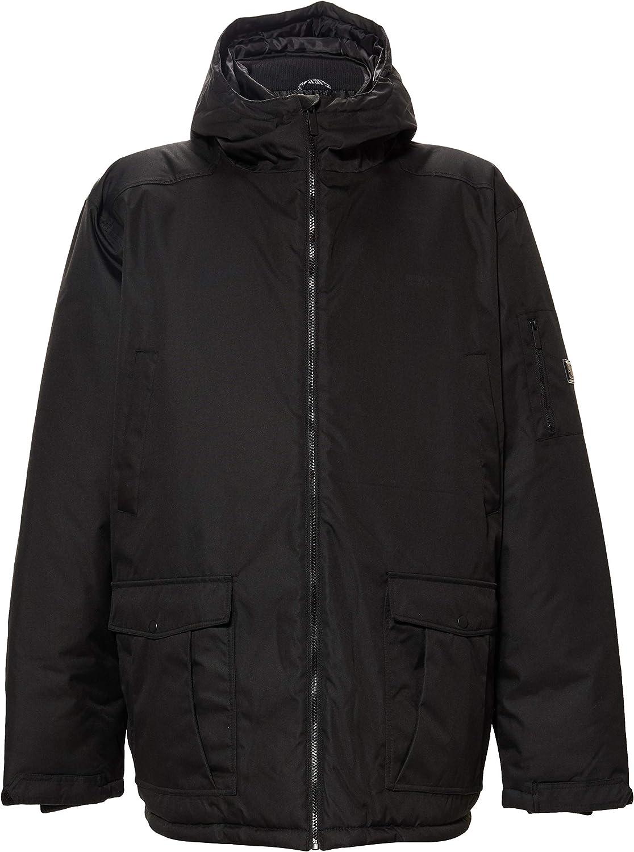 Regatta Mens Stypher Hooded Padded Jacket (M) (Black)
