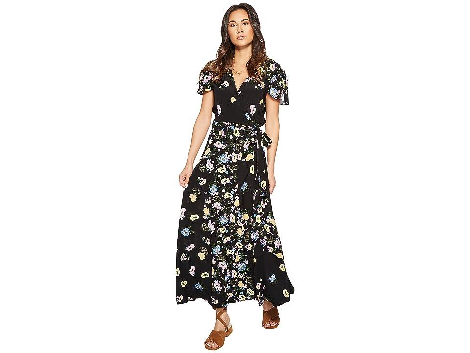 Free People Gorgeous Jess Wrap Dress (Black Combo) Women