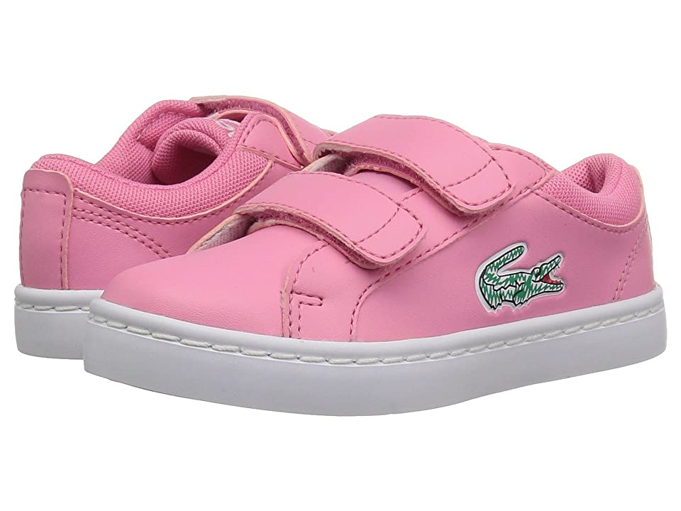 Lacoste Kids Straightset HL (Toddler/Little Kid) (Pink/White) Kid
