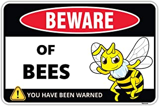 Venicor Bee Decor Sign - 8 x 12 Inches - Aluminum - Bumble Bee Decorations for Home Garden - Honey Bee Hive Outdoor Yard A...