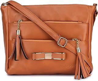 GLOSSY Women's Sling Bag (Tan)