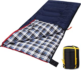 Domaker Lightweight Camping Sleeping Bag for Adults, Compact Backpacking Sleeping Bag for Hiking Travel, 3 Seasons Warm Fl...