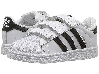 adidas Originals Kids Superstar CF (Toddler) (Footwear White/Core Black/Footwear White) Kids Shoes