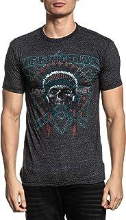 Affliction Men's Graphic T-Shirt, AC Devils Trail Variant, Short Sleeve Crew Neck