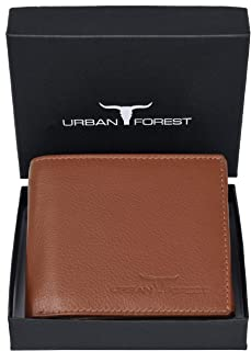 URBAN FOREST Kevin Redwood Leather Men's Wallet