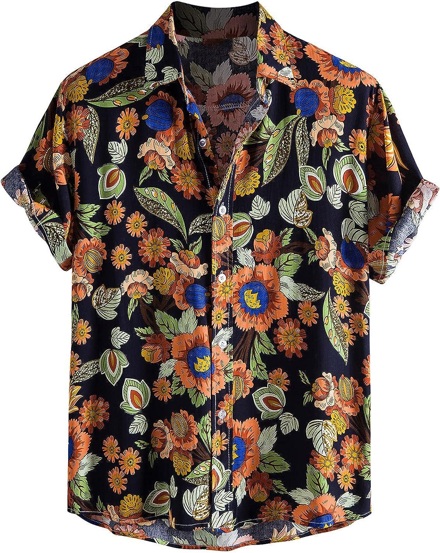 Yihaojia Men Blouse Mens Linen Shirts Casual Hawaiian Complete Free Shipping Tro Cotton Max 77% OFF