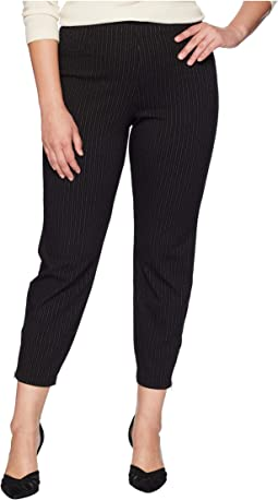 Plus Size Classic Pinstripe Loafer Skimmer Leggings