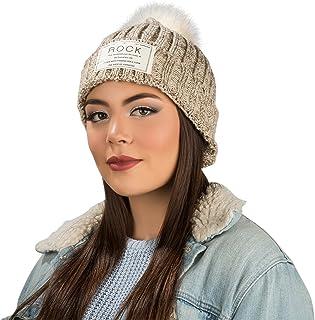 Aerusi Women's Echo Warm Pompom Knit Cuffed Beanie