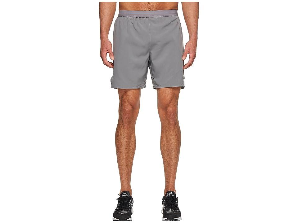 Nike Flex Distance 7 Lined Running Short (Gunsmoke/Atmosphere Grey) Men