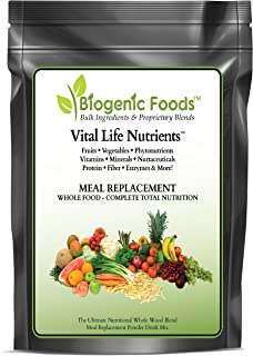 Vital Life Nutrients (TM) - The Complete & Ultimate Natural Whole Food Meal Replacement Powder Drink Mix, 30 SRV