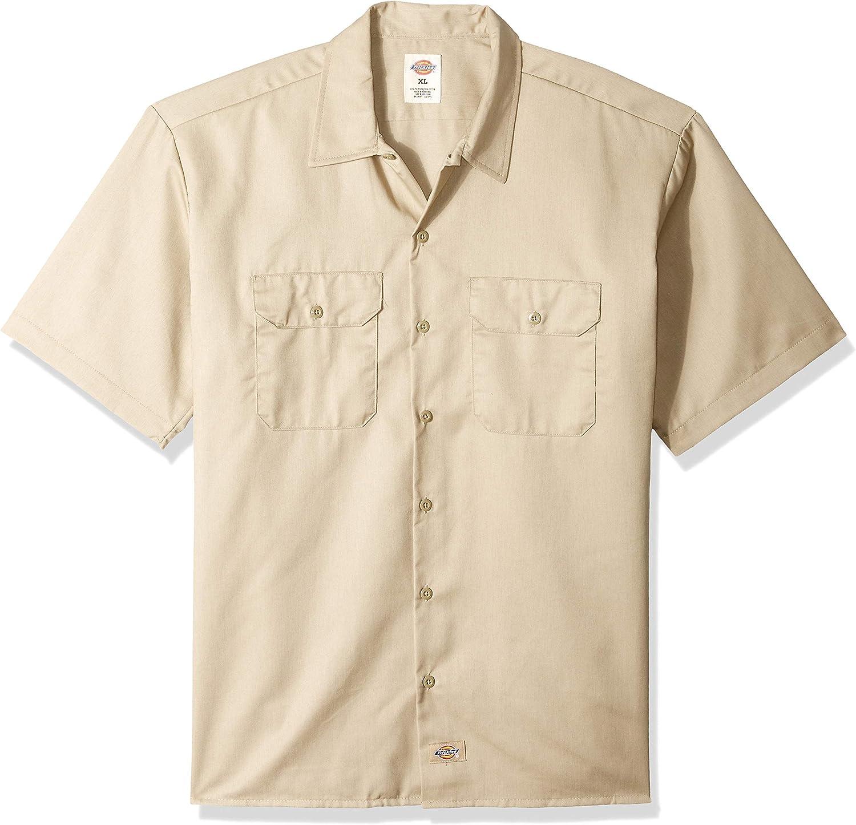 Dickies Men's Hanging Short Sleeve Work Shirt Black