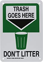 Brady 123960 Recycle and Environment Sign, Legend