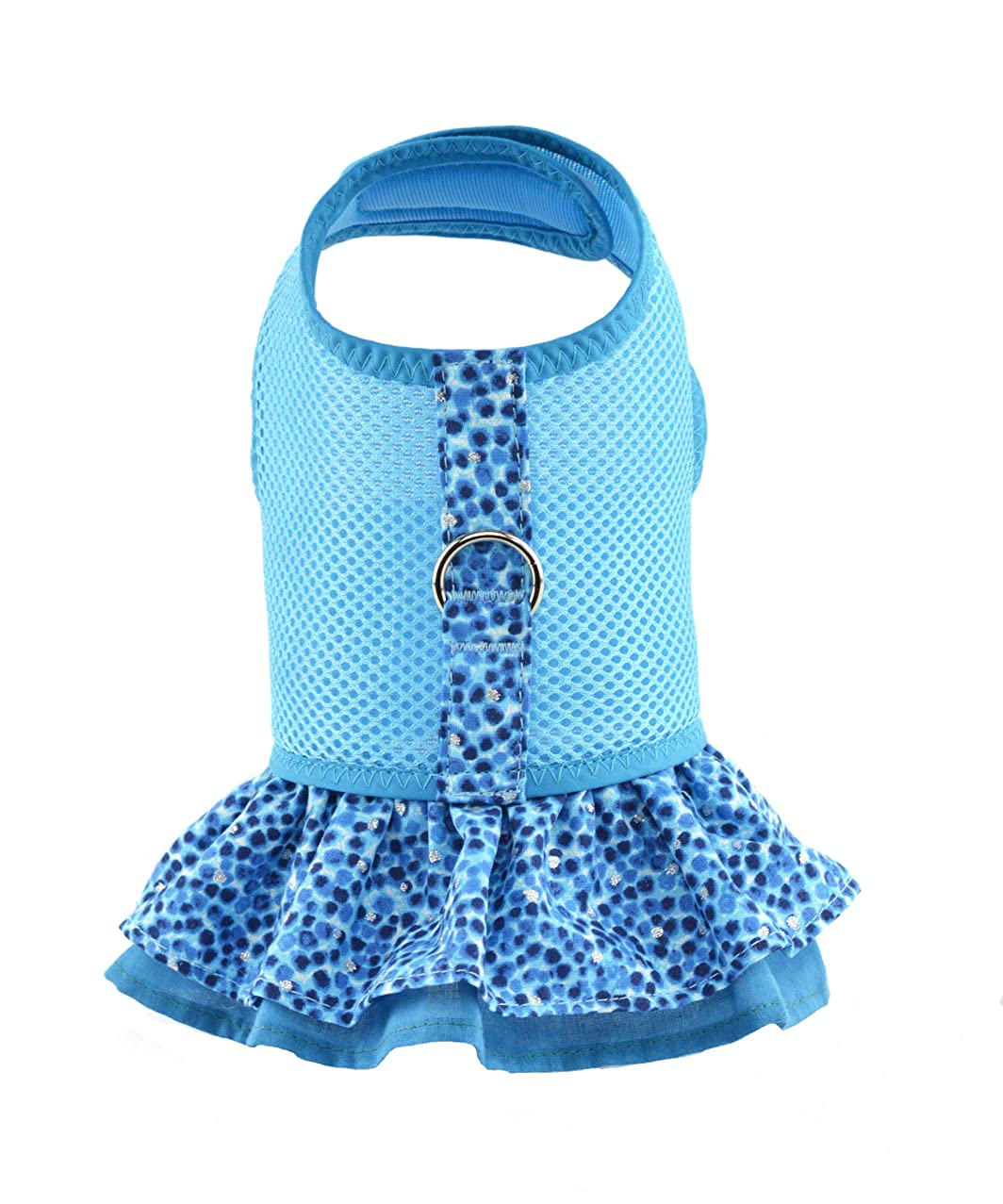 Aqua Air Mesh Ruffled Dog Vest Harness