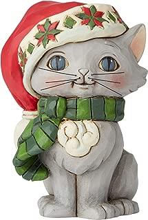 Jim Shore Heartwood Creek 6004295 Mini Christmas' Kitten Figurine, Resin, 3.5 Inches, Multicolor