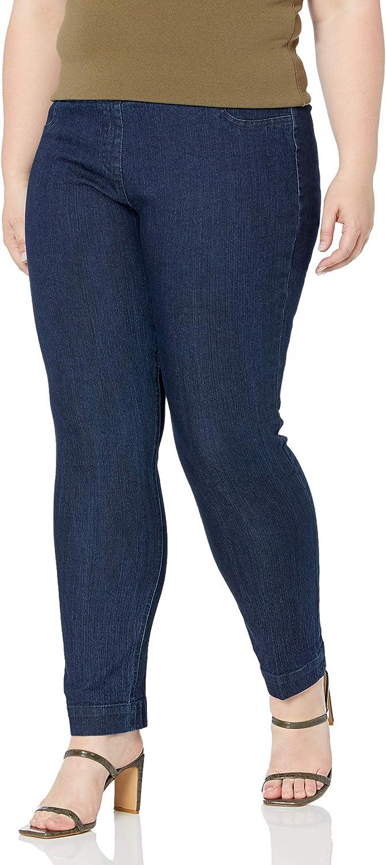 SLIM-SATION Women's Plus-Size Pull-On Straight-Leg Pant