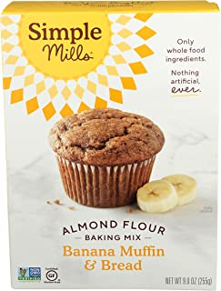 Sponsored Ad - Simple Mills Almond Flour Baking Mix, Gluten Free Banana Bread Mix, Muffin Pan Ready, Made with whole foods...