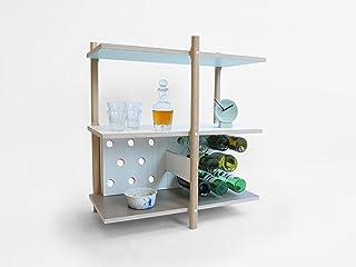 Pila Vino Bagagli - Conservazione del Vino - Stack Wine Storage - Olandese - Design - a mano - Living - Elettrodomestici -...