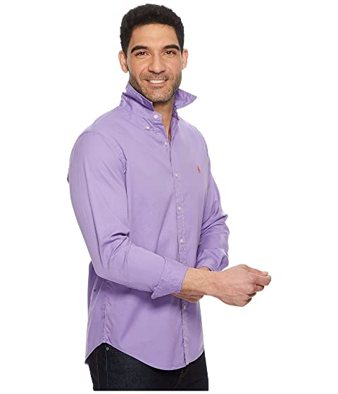 Lauren camisa Ralph Chino larga primavera violeta deportiva Polo de GD manga 5TH6dIPq