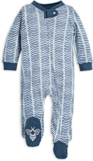 Unisex Baby Sleep & Play, Organic Pajamas, NB - 9M One-Piece Zip Up Footed PJ Jumpsuit