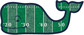 Vineyard Vines Football Field Whale Vinyl Sticker Decal (Green/White/Black)