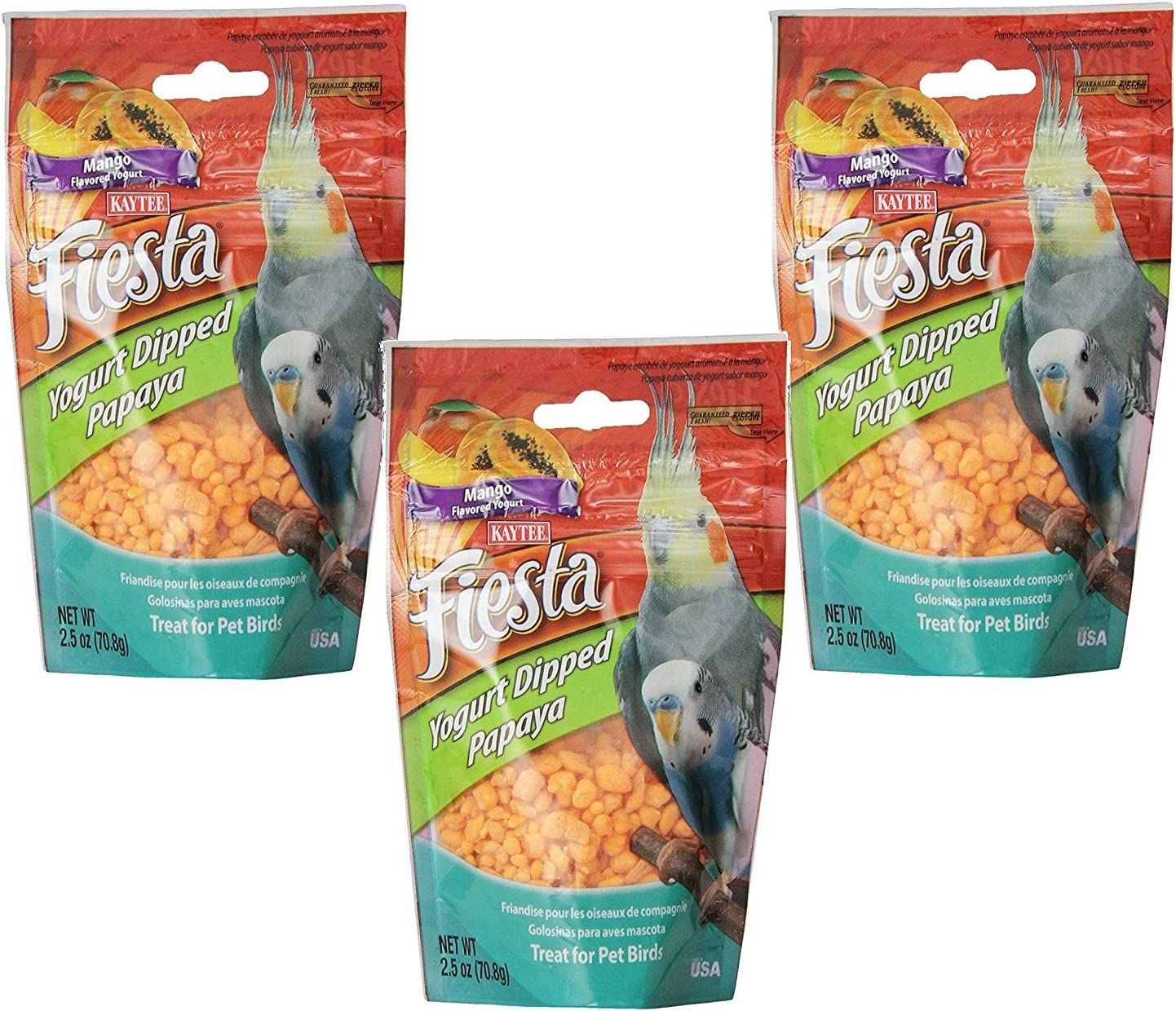 3 Fresno Mall Pack Kaytee Fiesta Mango Bird half Flavored Yogurt Papaya Dipped