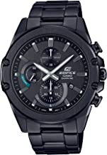 Casio Men's Edifice Quartz Stainless Steel Strap, Black, 22 Casual Watch (Model: EFR-S567DC-1AVCR)