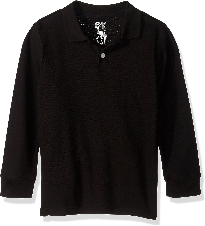 Gymboree Boys' Big Long Sleeve Pique Uniform Polo