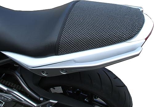 TRIBOSEAT Housse de siège Anti Slip Passenger conçue pour s'adapter à la Couleur Noire Compatible avec Kawasaki Er6N ...