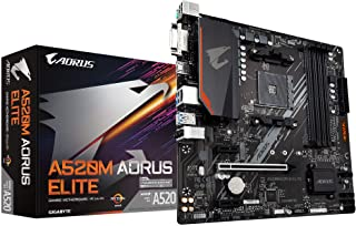Gigabyte A520M Aorus Elite ATX Motherboard for AMD AM4 CPU, 4 x DDR4 DIMM